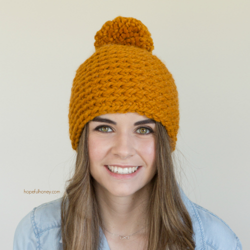 This crochet beanie is the perfect beginner crochet project.