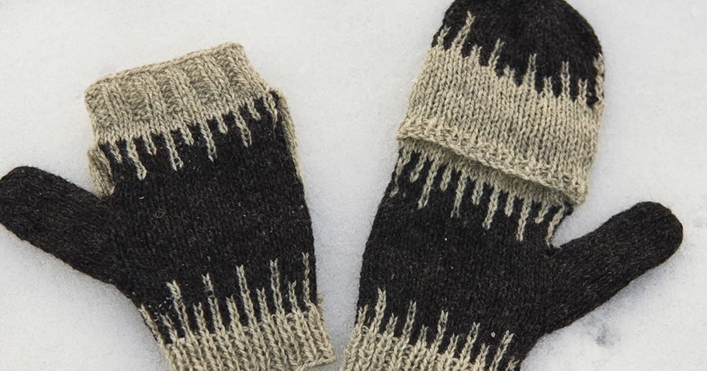 My First Colorwork Project: The North Star Flip-Top Mittens