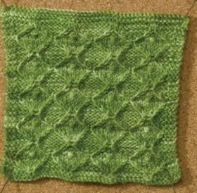 Learn about this amazing knitting stitch by Chrissy Gardiner called Nuppy Diamonds stitch in this free eBook on nine amazing knitting stitches.