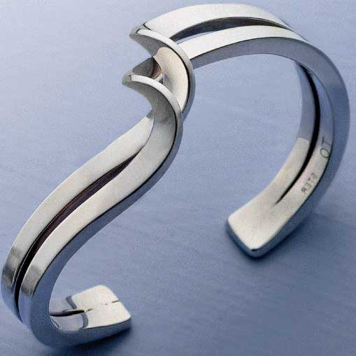 Twisted sterling cuff bracelet by Travis Ogden is a wonderful example of many silversmithing techniques
