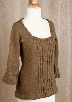 Knitting Gallery - Opulent Raglan Bertha