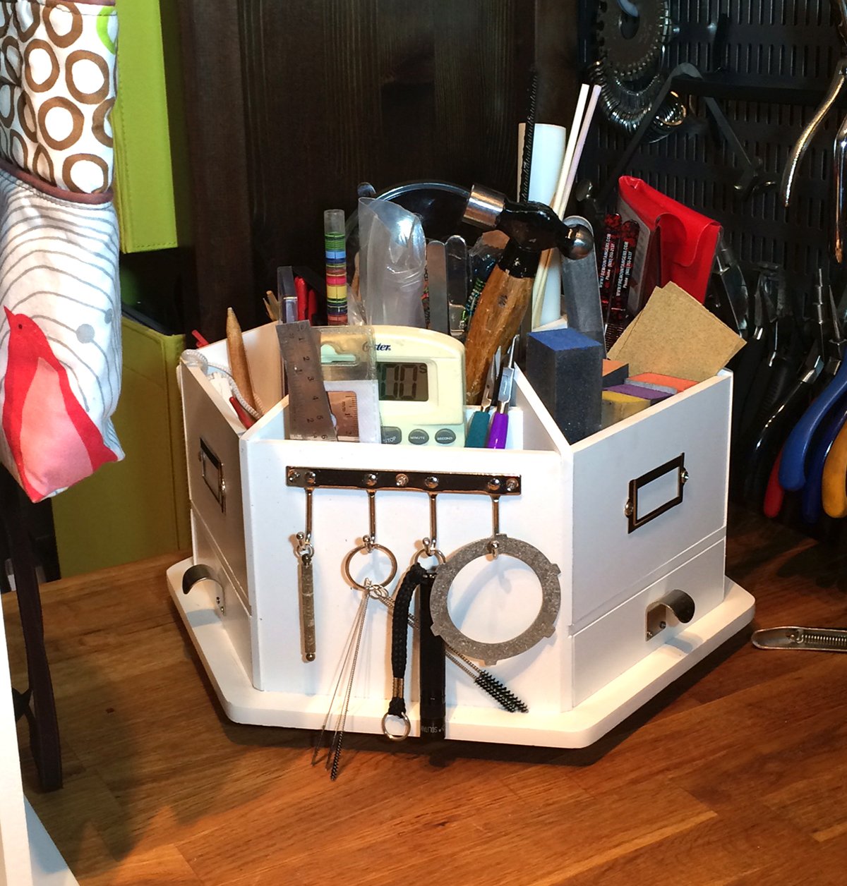 Go Organize Me caddy for organizing your studio tools and jewelry-making supplies