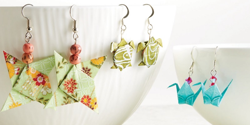 Try Something New: Colorful, Affordable Origami Paper Jewelry Making for Summer