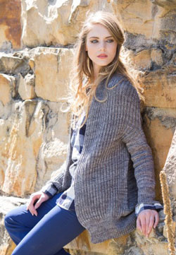 The Orne Cardigan is a gorgeous example of brioche stitch.