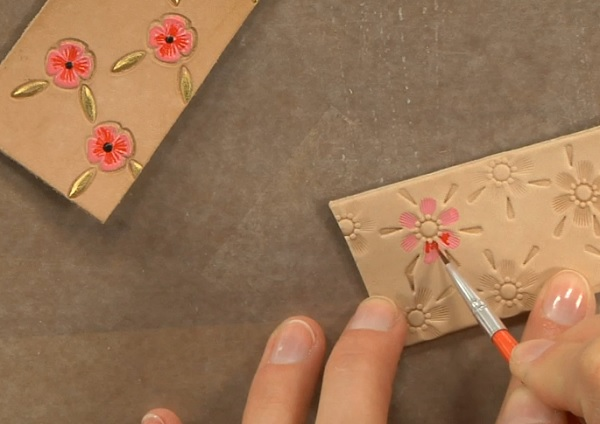 leather jewelry making: adding color with paint, pigments, and stains