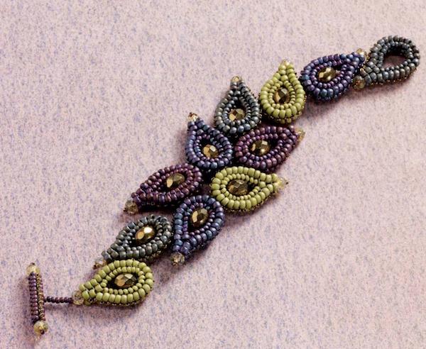 beaded paisley bracelet