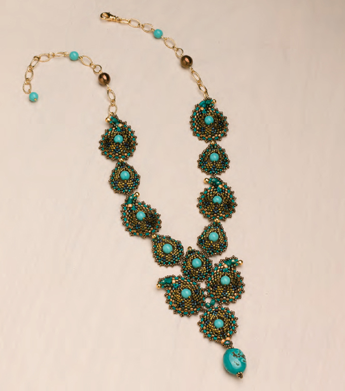 Jayashree Paramesh's Paisley Parade Necklace. Shaped beads, Favorite Bead Stitches Beadwork issue