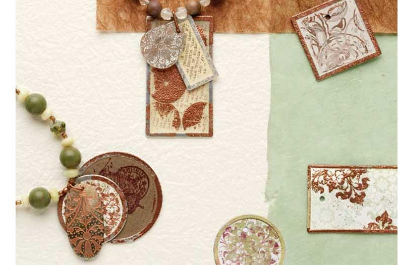 Custom Cool Jewelry by Melinda Barta, multi-media jewelry, customize, paper tags