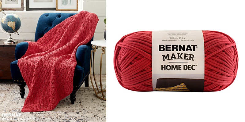 Yarnspirations Sweepstakes Week 3: Win the Bernat Parquet Knit Blanket