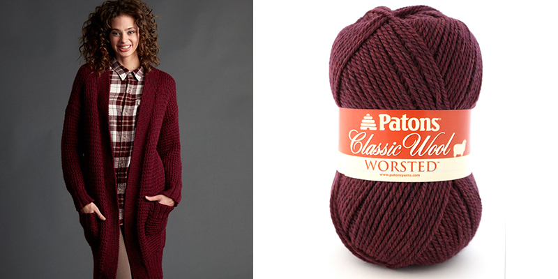 Yarnspirations Sweepstakes Week 4: Win the Patons Long Weekend Knit Cardigan