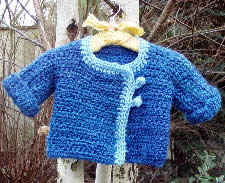 Baby its cold outside free baby crochet sweater interweave a couple of years ago i made this beautiful one piece knit baby sweater using a pattern from some magazine from the 70s it started from the back and dt1010fo