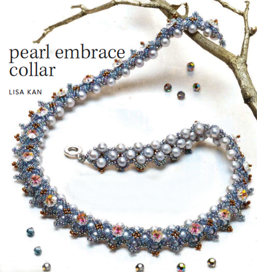 """Pearl Embrace Collar,"" by Lisa Kan a beautifully beaded design in on-trend colors"