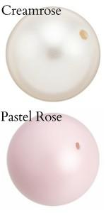 Swarovski creamrose and pastel rose crystal pearls