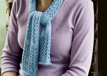 Knit the Penobscot knitted lace scarf in this free ebook.
