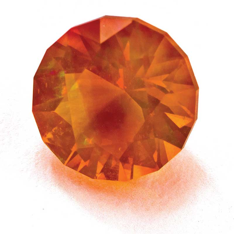 Fire opal cut by Jim Perkens