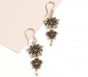 Learn how to make these peyote stitch earrings in our FREE eBook on seed bead earrings.