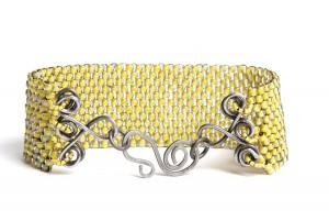 Event count peyote bracelet, Tammy Honaman, size 8/0 seed beads
