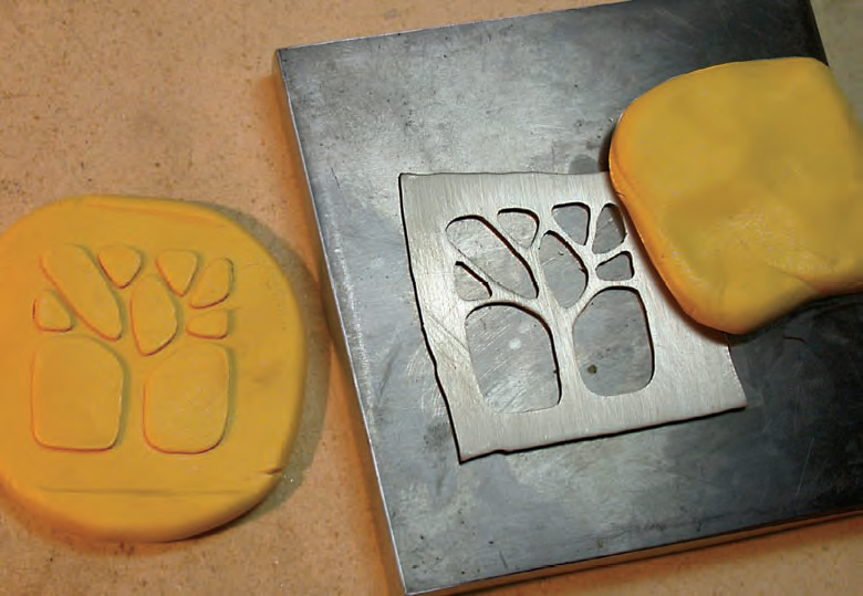 polymer clay molds from metal sheet jewelry designs