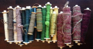 A rainbow of mystery bobbins!