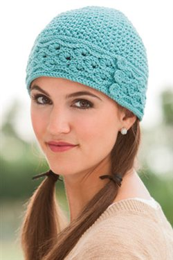 This beautiful crochet beanie is quite the eye-catching crochet accessorie.