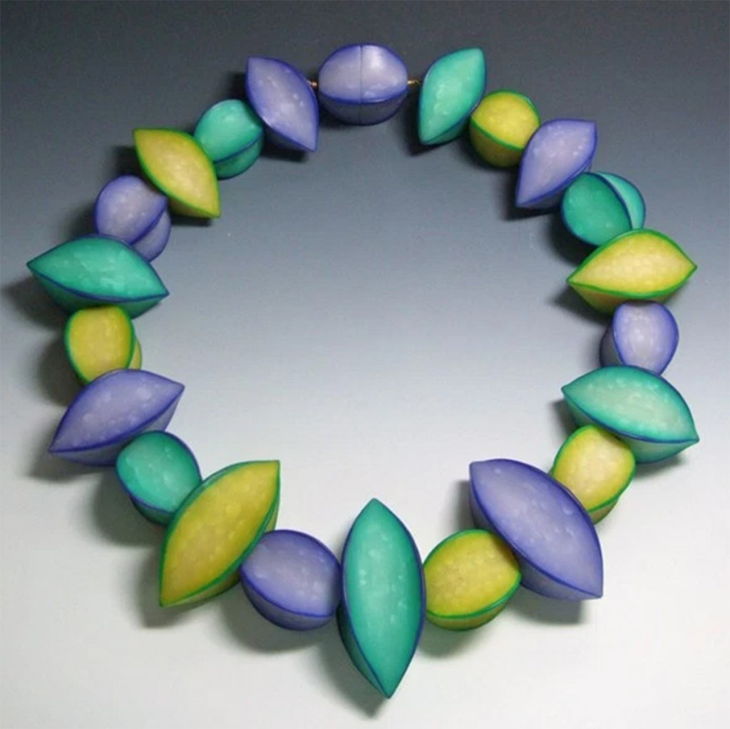 """Star Fruit Bead Necklace,"" by Pier Voulkos, 1996"