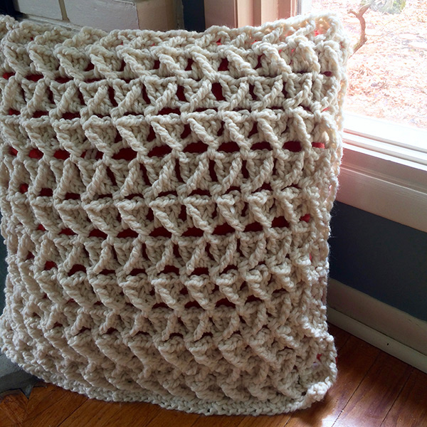 cabled pillow