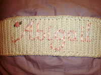 embroidered floral pillow belt