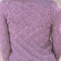 Pink Lavender color example knit cardigan