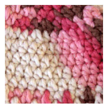 Pink and Brown Swatch