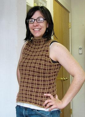 Knitting Gallery - Plaid Halter Stefanie