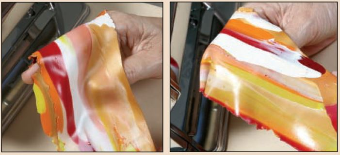 make faux gems, how to marble polymer clay