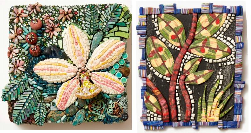 mixed media polymer clay mosaics by Christi Friesen