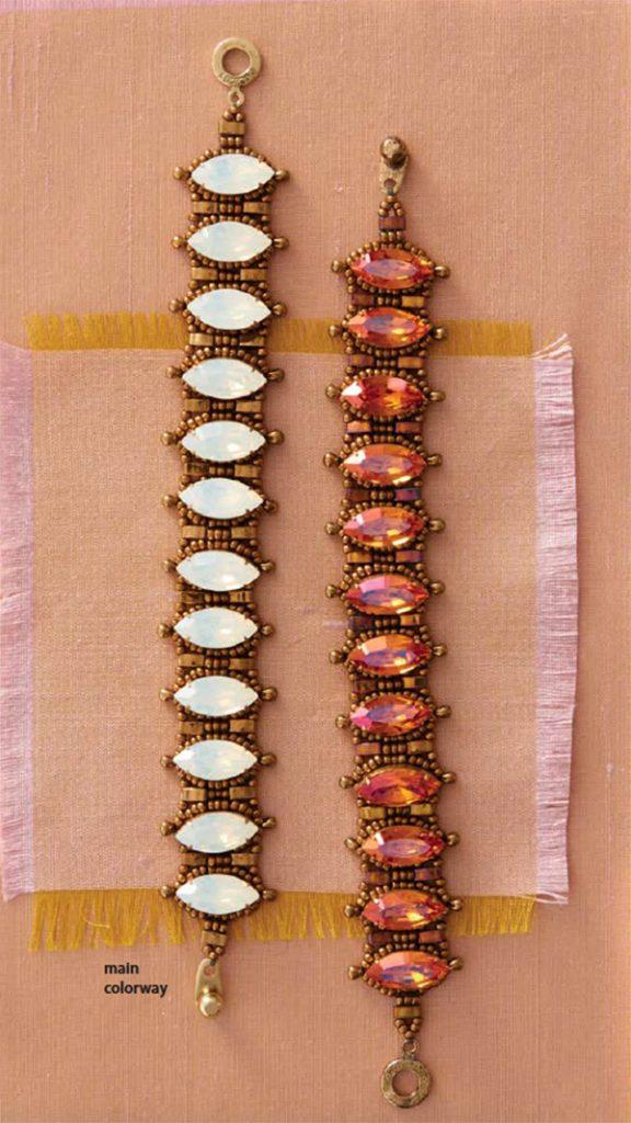 Beadwork Magazine, Quick & Easy magazine, pompadour, Swarovski crystals, by Carol Ohl