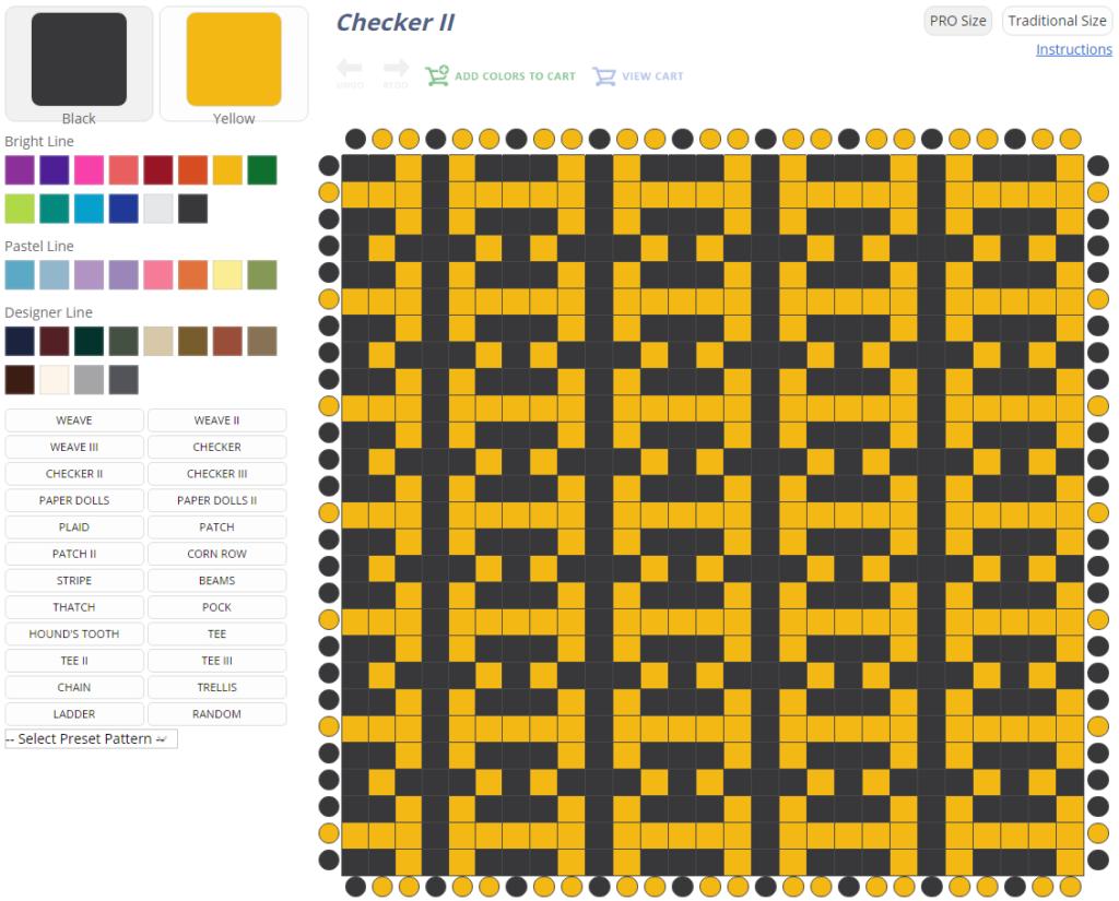 Potholder Pattern Wizard from Harrisville Designs.