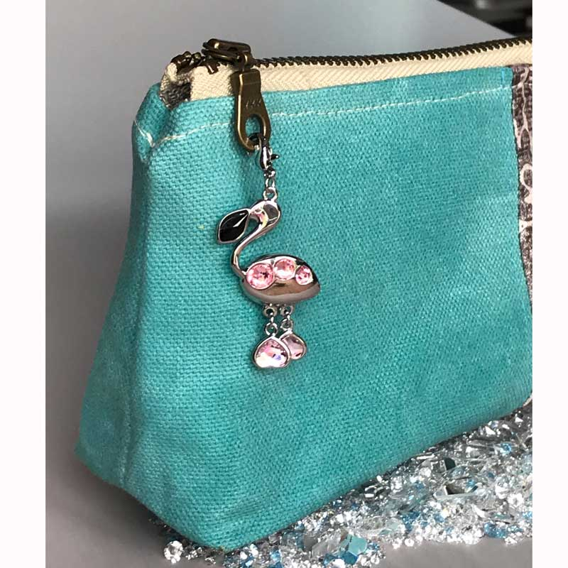 A basic bag goes from okay to fabulous with Swarovski.