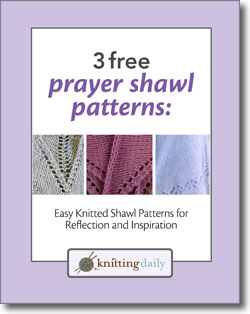 Make a knitted prayer shawl for someone in need with these 3 free knitting patterns.