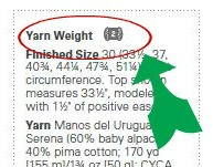 Consider yarn weight as you start knitting.