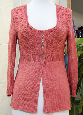 Knitting Gallery - Printed Silk Cardigan Bertha