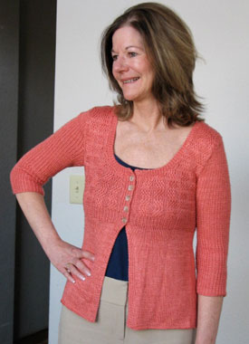 Knitting Gallery - Printed Silk Cardigan Kerry