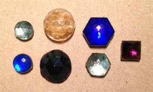 Vintage 2-hole dome beads