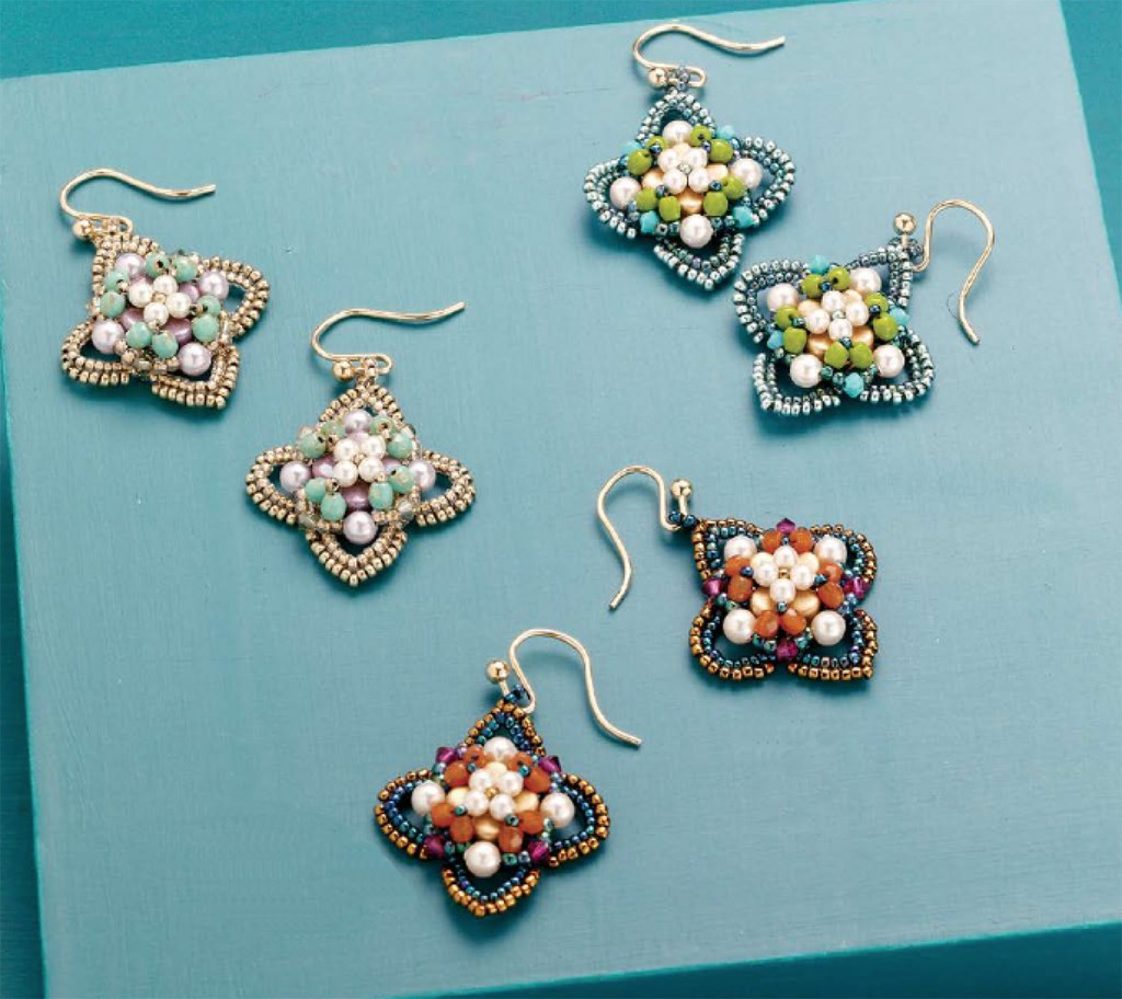Quatrefoil Earring design by Lisa Kan