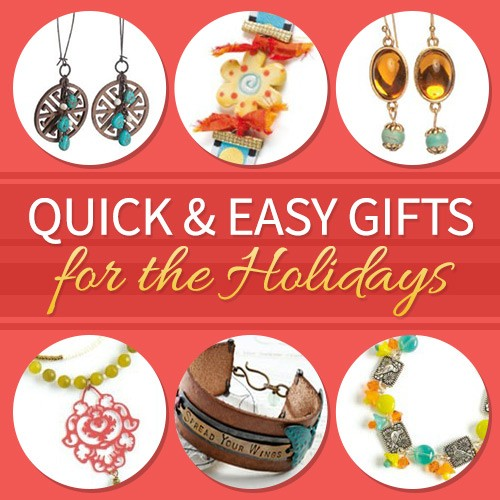Quick and easy beaded jewelry gifts for the holidays!