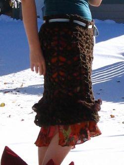 skirt up close