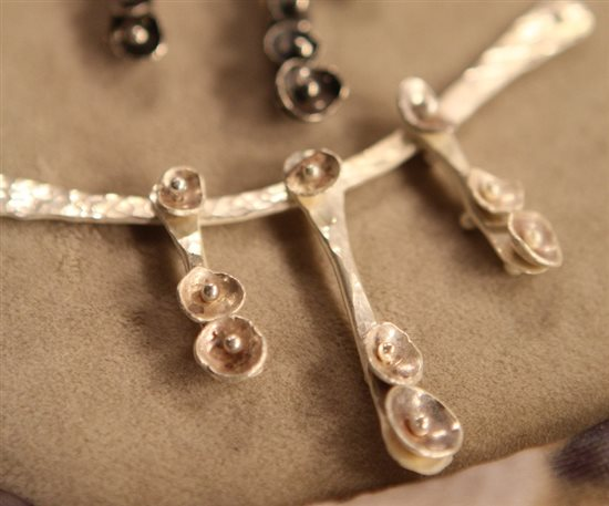 make dapped jewelry designs from recycled silver