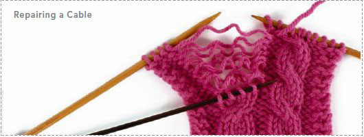 Learn how to repair a cable knitting stitch in this exclusive how to knit cables guide.