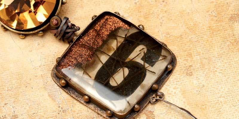 Susan Lenart Kazmer Ice Resin and rosebuds pendant