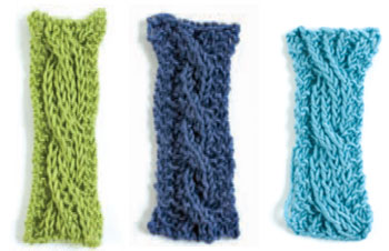 Reversible cables in alternative stitches.