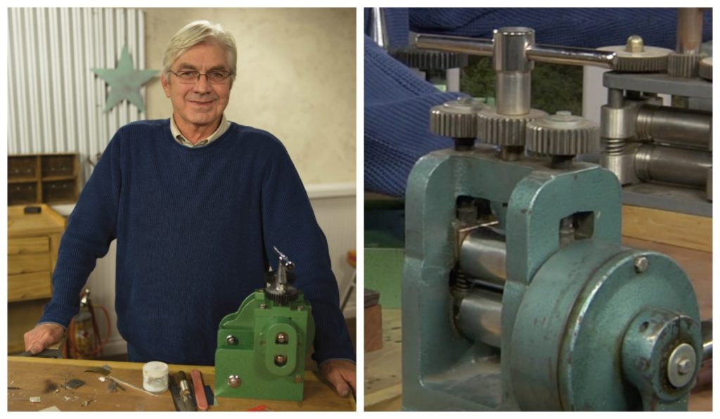 As an expert metalsmith and teacher, Richard Sweetman knows just how irresistible rolling mills can be.