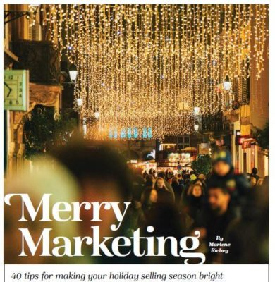 """Merry Marketing"": timely selling tips from Marlene Richey. Illustration: Getty Images"