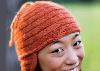 Make this unique ribbed hat knitting pattern in this free eBook on hat knitting patterns.
